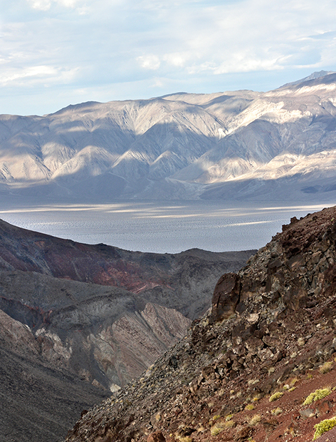 towne pass overlooking death valley