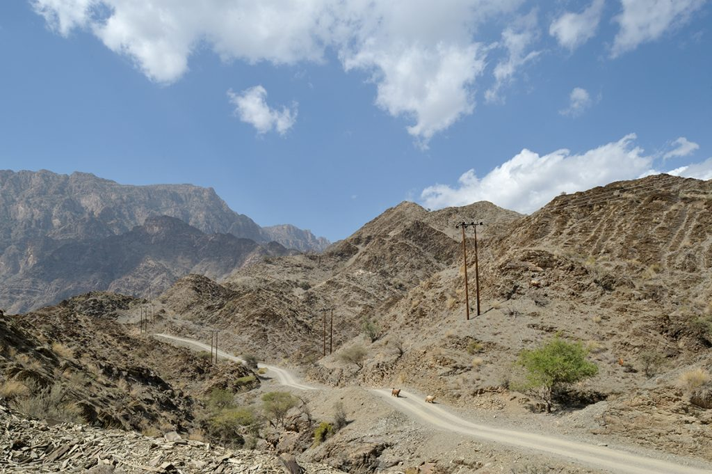 Al Hajar mountains of Oman