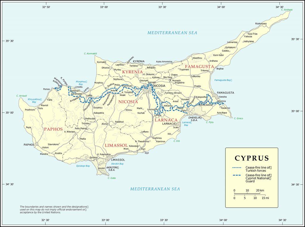 Cyprus UN Map