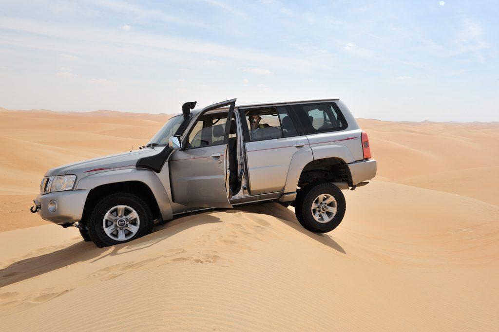 desert driving, stuck