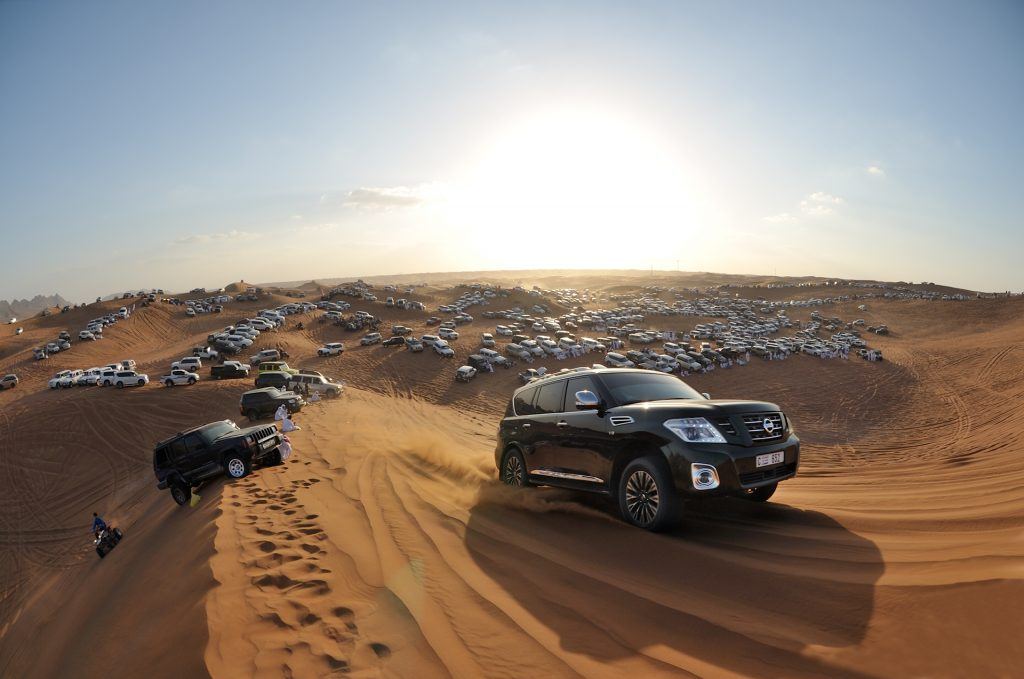Nissan patrol in the desert
