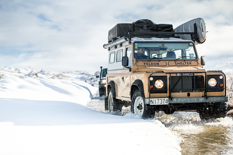 Defender in snow