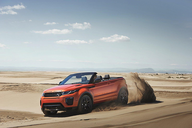 Evoque in the desert