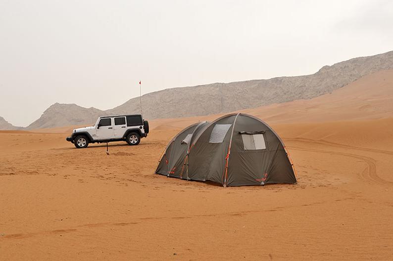 Desert camping Oman