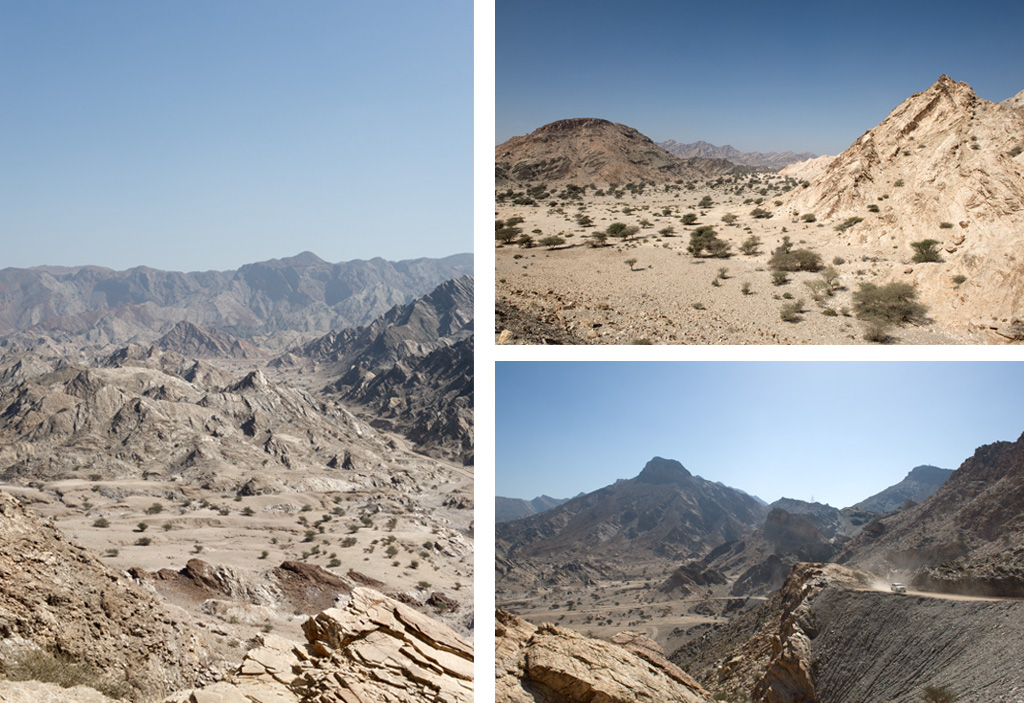 Al Hajar mountains near muscat