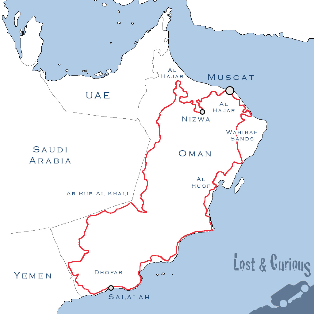 Oman trail map