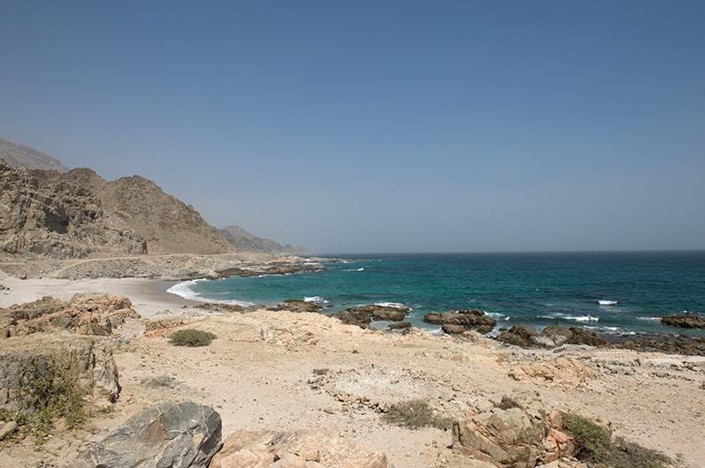Oman coast line
