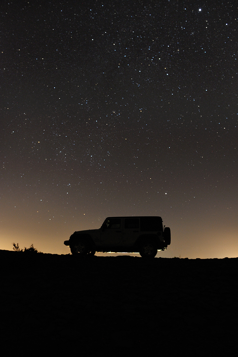 Jeep in the night