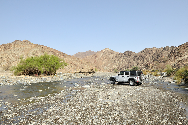 Wadi crossing Oman