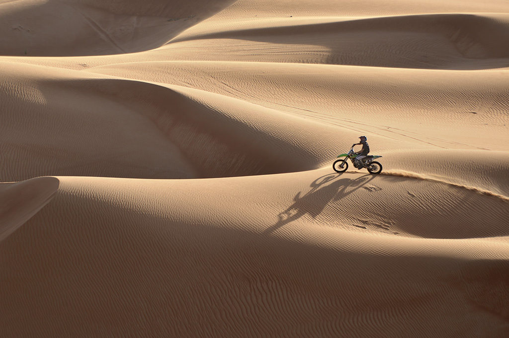 Bike riding desert