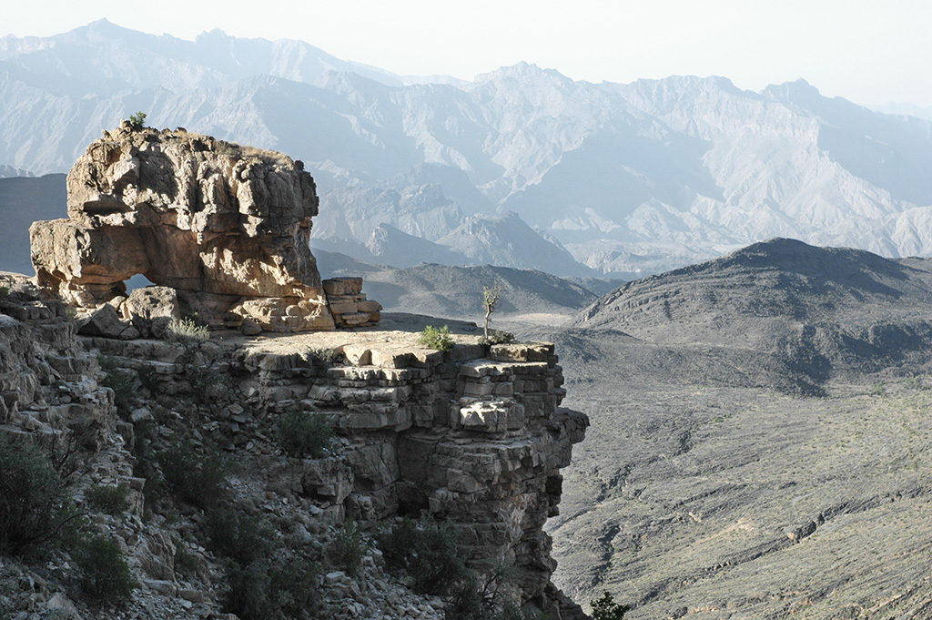 The cliff overlooking Wadi Awf