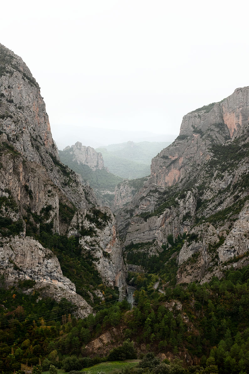 The Collegats Gorges, carved by Arriù Noguéra Palharesa.