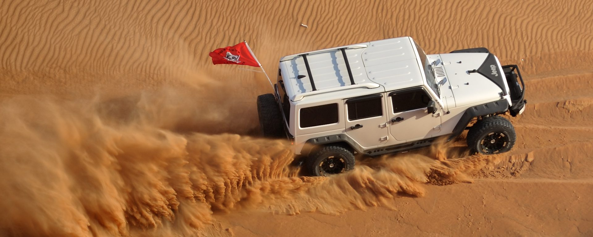 Jeep in Sand
